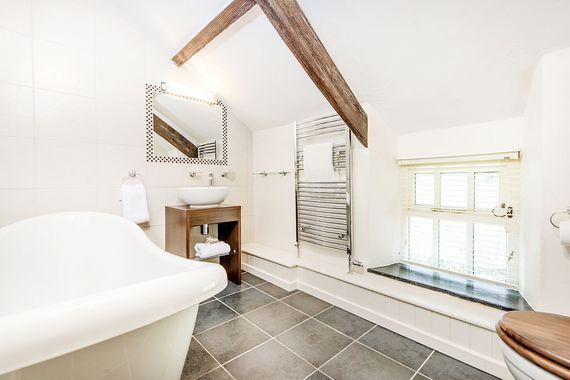 Farmhouse family slipper bathroom