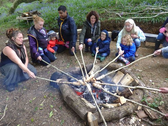 Woodland Adventures cooking on the fire