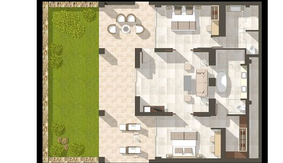 Sani Club - Two Bed Bungalow Suite with Garden Image 12
