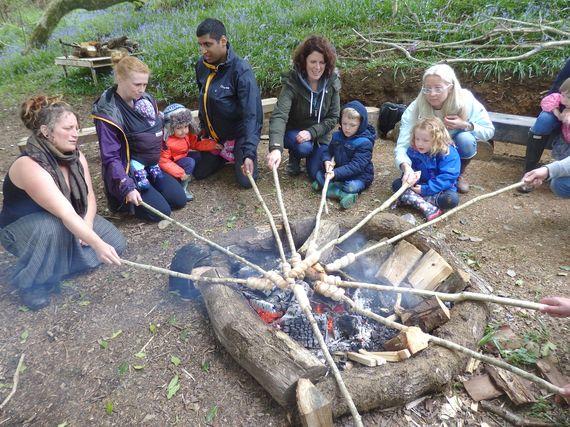 Woodland Adventures baking bread