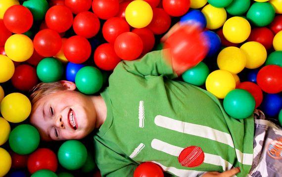Ball pit fun