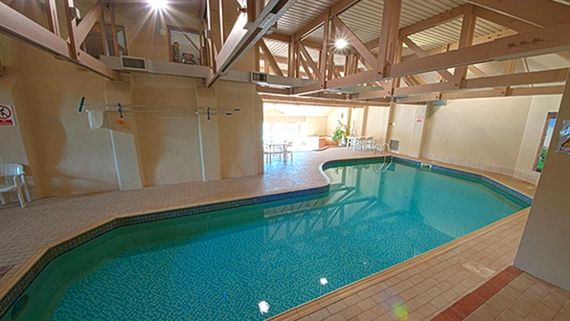 Heated indoor pool at Broomhill Manor