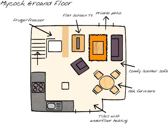 Floor plan downstairs