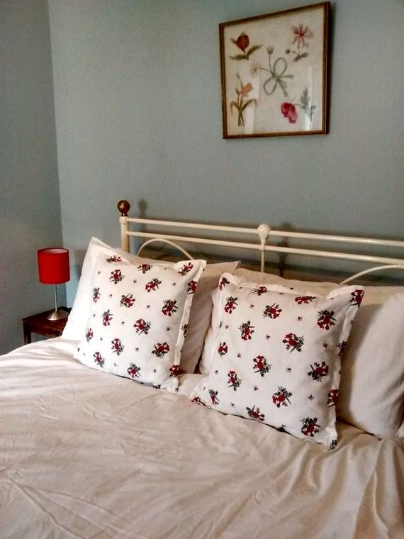 Bedroom 1 with a king bed.  Bed linen and towels is provided.