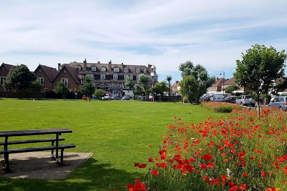 East Preston Village green with it's shops, restaurants and cafes is only a minutes walk away