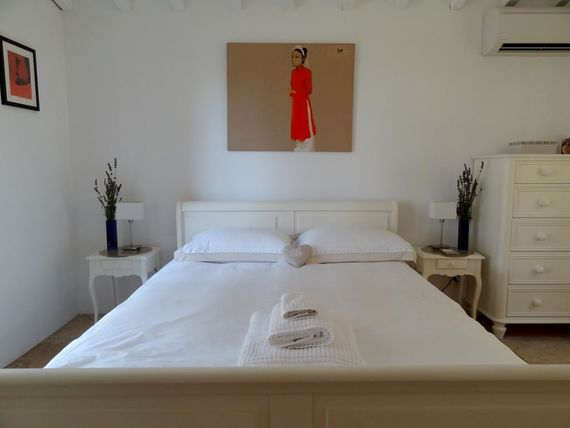 G/F King size Bedroom with private terrace, seating and views over the gardens.