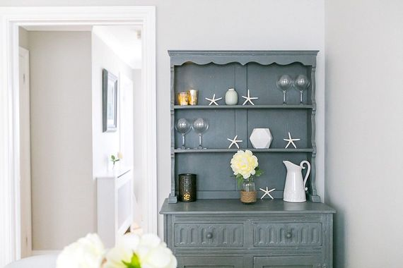 Chalk painted dining dresser