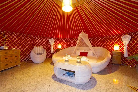 Eco Twin Yurt large pod