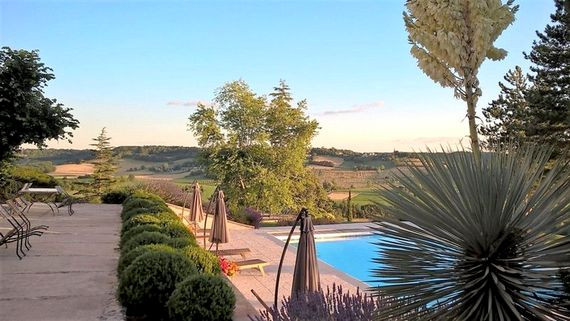 Enjoy panoramic views from the heated 12x6mt swimming pool