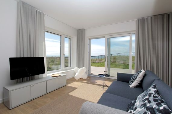 views of the sea from Marram's living space