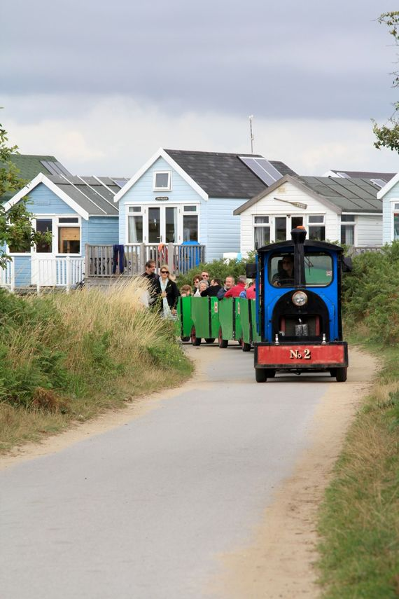 the 'Noddy' land train on Hengistbury Head