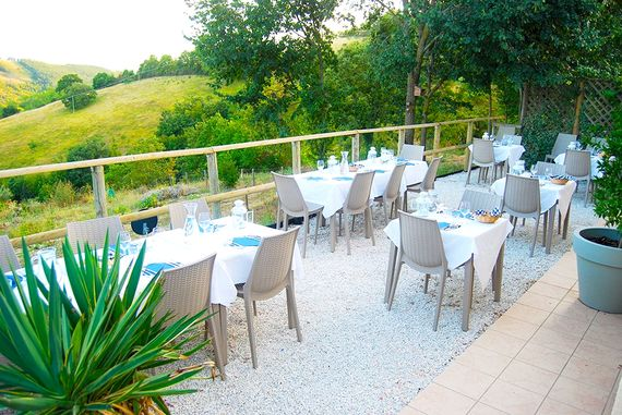 Our restaurant, La Tavernetta serves delicious home cooked food from our gardens