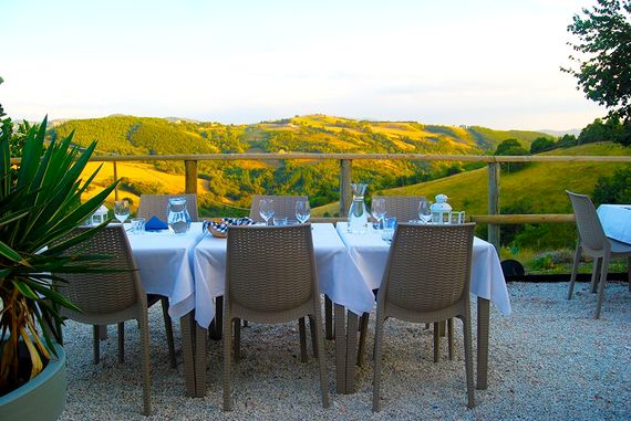 Enjoy a delicious meal in our restaurant - freshly cooked food from our gardens
