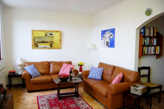 The lounge with flat screen TV