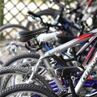 There's a selection of adult and childrens bikes onsite for guests use.