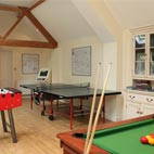 Older children love the communal games room.
