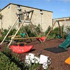 There's a shared outdoor play area, plus a couple of the cottages also have their own private play areas.