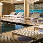 The luxurious spa has a laconium, steam room, frigidarium, sauna and tepidarium for thermae experinces, an indoor pool, hot tub plus a range of spa, beauty and hair treatments.