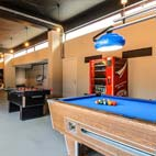 The teen room helps ensure older children are entertained. There's a selection of electronic games (Xbox, PlayStation 4, PSP, Wii, Guitar Hero), table football, table tennis, a pool table and more.
