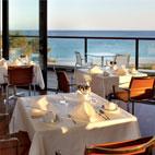 The 'O Terraco' restaurant enjoys lovely coastline views
